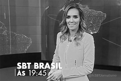 Chamada SBT Brasil P&B